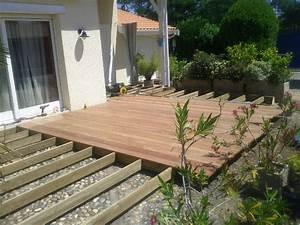 incroyable pose d une terrasse en composite 4 terrasse With pose d une terrasse en bois composite