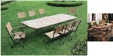 table de salon de jardin en fer forge salon de jardin vienna table rectangulaire teck et fer forg 233 oogarden
