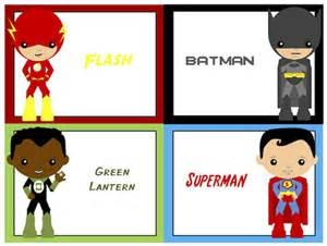Superhero Name Tags Printable Free