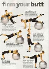 Stability ball butt exercises