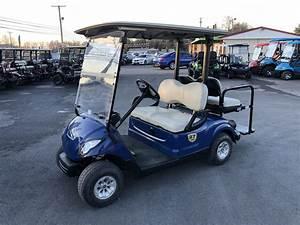 2016 Yamaha 48 Volt Electric Golf Cart Blue  4 Seat  Led