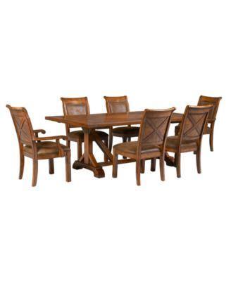 mandara dining room furniture 7 piece set table 4 side
