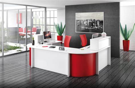 bureau en merisier banque accueil come in mobilier accueil pour bureau d