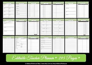 editable chevron printable teacher planner With teacher diary template