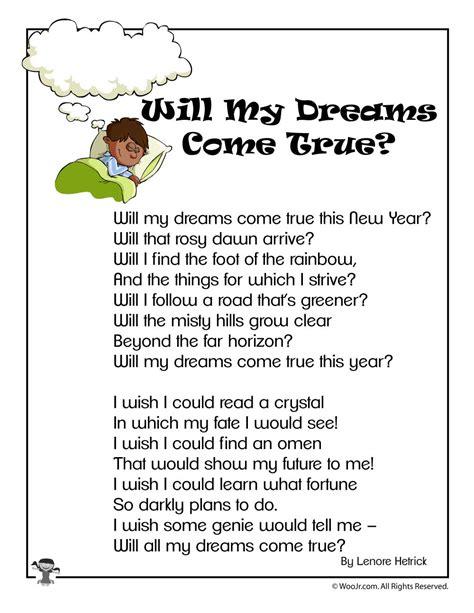 dreams  true  years childrens poem woo