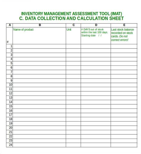 excel inventory template   excel  documents