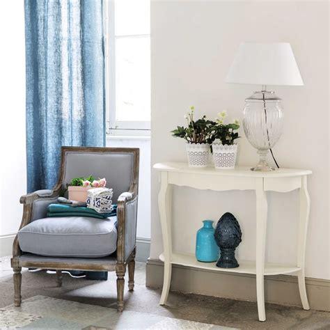 table console en bois blanche   cm seraphine maisons du monde