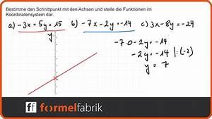 Schnittpunkte Mit Koordinatenachsen Berechnen : lineare funktionen schnittpunkte mit den koordinatenachsen nr 2 youtube ~ Themetempest.com Abrechnung