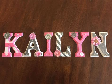 letters painted   baby girl love diy projects