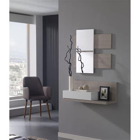 meuble commode entree avec miroir
