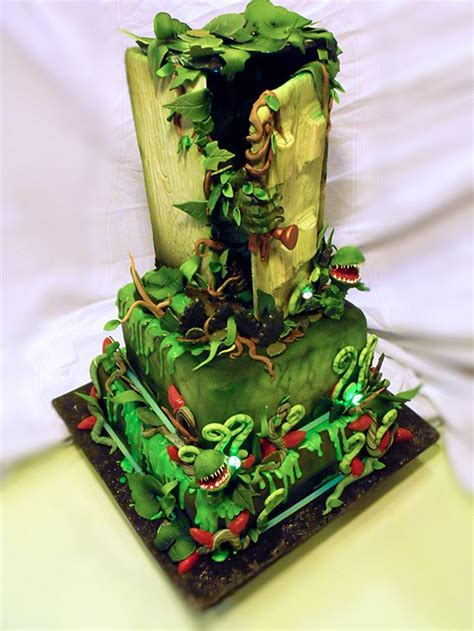 gorgeous glow   dark goosebumps cake
