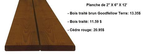 prix d une planche de bois le bois trait 233 brun pour un patio d aspect naturel d 233 conome
