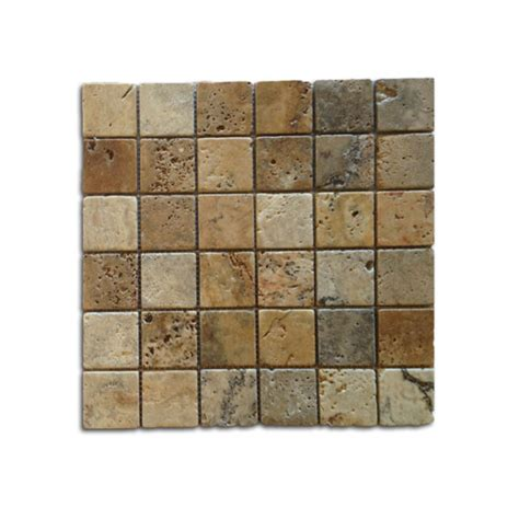 2x2 travertine tile 2x2 noce weave tumbled travertine mosaic travertine warehouse