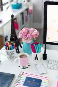 girly office desk accessories interior home design