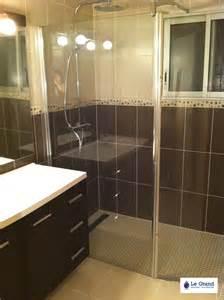 salle de bains marron et le grand plombier chauffagiste rennes