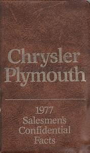1977 Chrysler  Plymouth And Dodge Cd