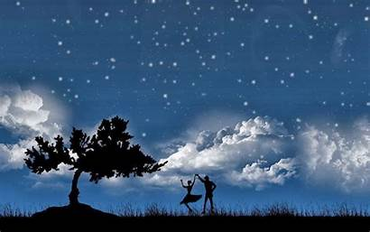 Night Couple Dancing Dreams Quotes Sweet Wallpapers