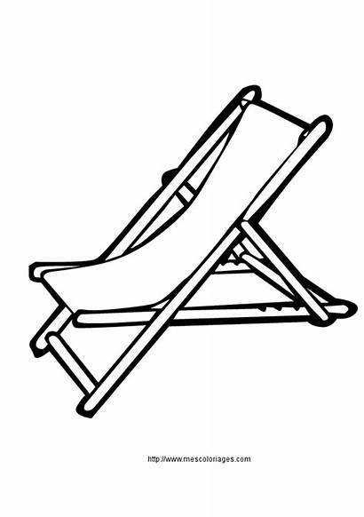 Chairs Chaise Dessin Longue Deck Silhouette Praia