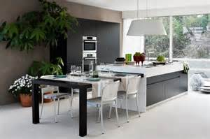cuisine îlot central 25 propositions modernes kitchens - Island Tables For Kitchen