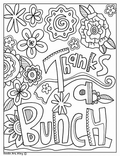 Coloring Pages Teacher Printable Appreciation Thanks Thank