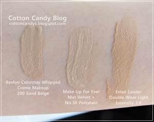Estee Lauder Double Wear Tone Chart Cotton Candy Blog Revlon Colorstay Creme Makeup