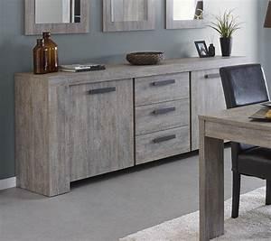 Meuble Chene Gris : meuble buffet bahut contemporain couleur ch ne gris ~ Teatrodelosmanantiales.com Idées de Décoration