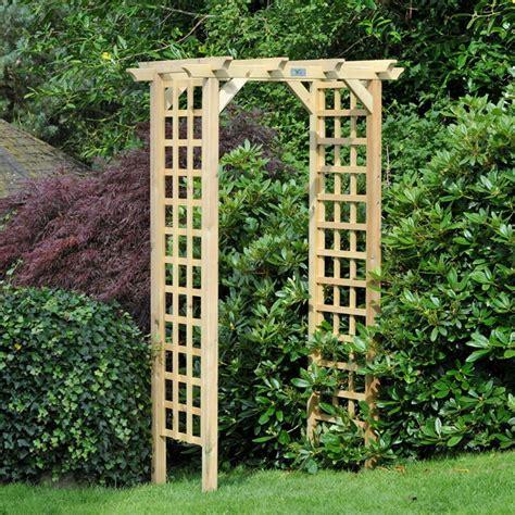 M&m Coppice Wooden Trellis Garden Arch  Internet Gardener