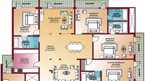 4 Bedroom Floor Plan by 48 Images Of 4 Bedroom House Floor Plans For House Plan