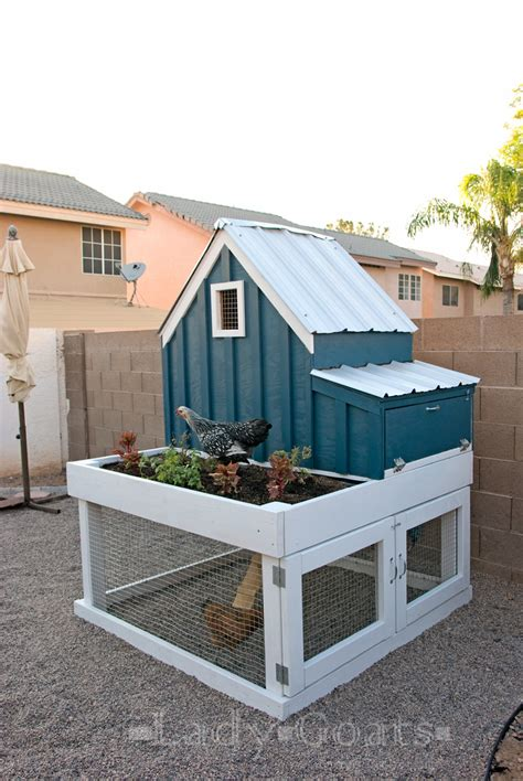 Chicken House Designs by Small Chicken Coop With Planter Clean Out Tray And