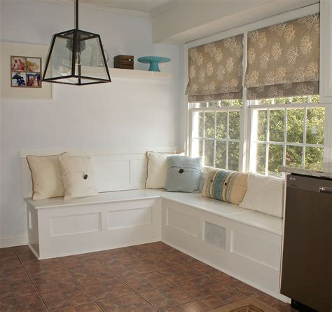 breakfast nook bench white built in storage bench diy projects
