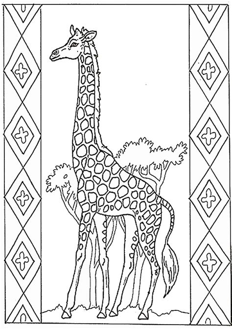 giraffe coloring pages birthday printable