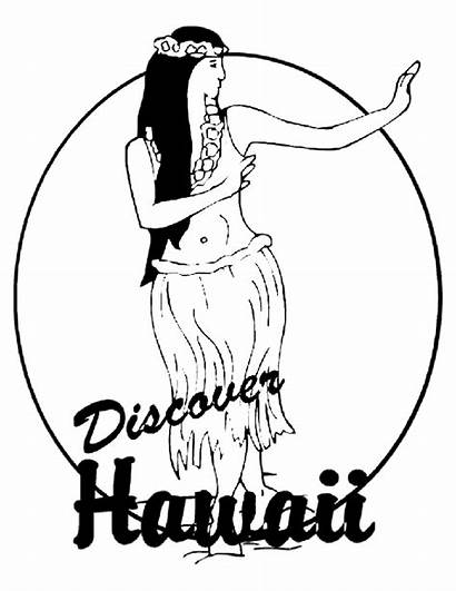 Coloring Hawaii Hula Island Hoop State Dancing