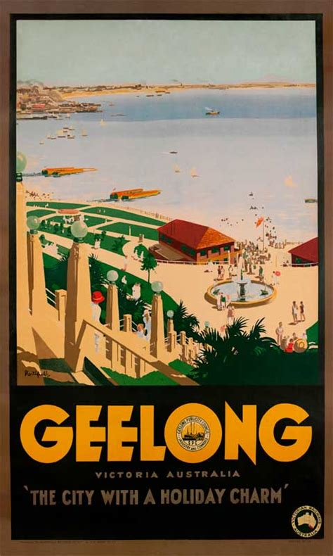 geelong vintage travel poster  james northfield