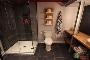 Salle De Bain Idée Déco : salle de bain dans chambre sous comble salle de bain gris ~ Dailycaller-alerts.com Idées de Décoration