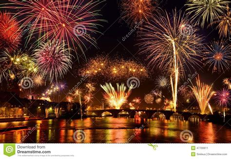 happy fireworks display stock image image  city