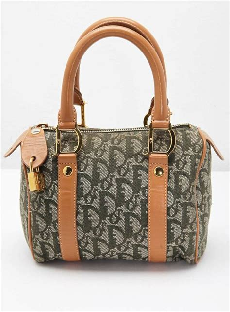 christian dior green monogram canvas diorissimo top handle