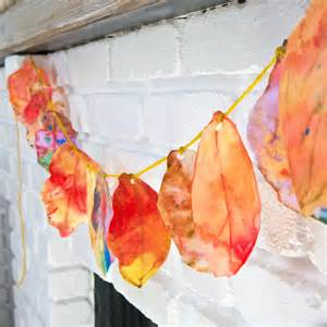 Coffee Filter Fall Leaves Art Project