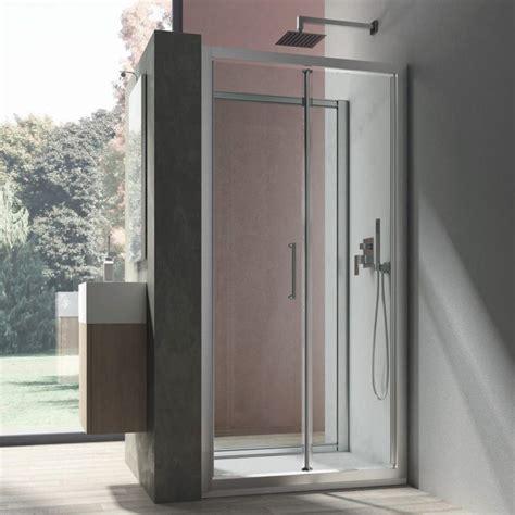 Porta Doccia A Soffietto by Porta Doccia Apertura A Soffietto Da 80 Cm In Cristallo