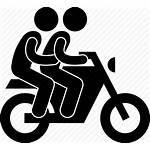 Icon Motorcycle Motorbike Pillion Passenger Motorcyclist Icons