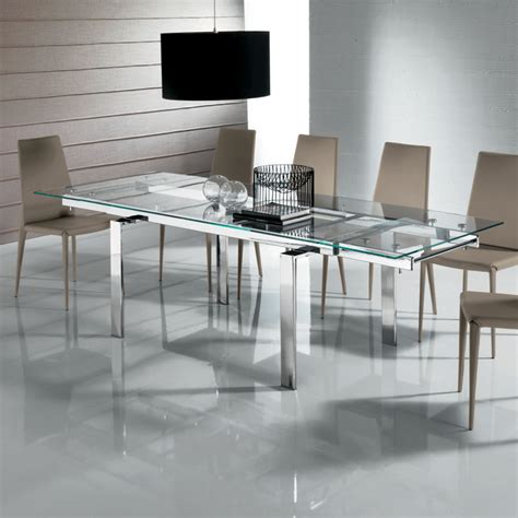 glass kitchen table extendable dining table for your needs traba homes