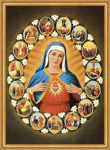 Marienbild Maria Gottesmutter Verkündigung Kreuzigung St