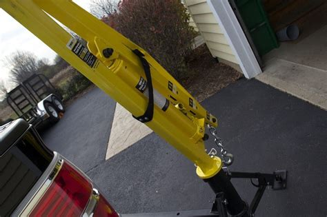 maxxtow  receiver hitch mounted pick  truck crane