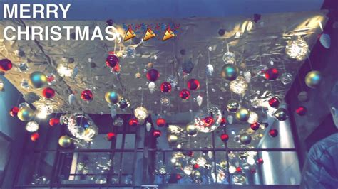 christmas ceiling decor youtube