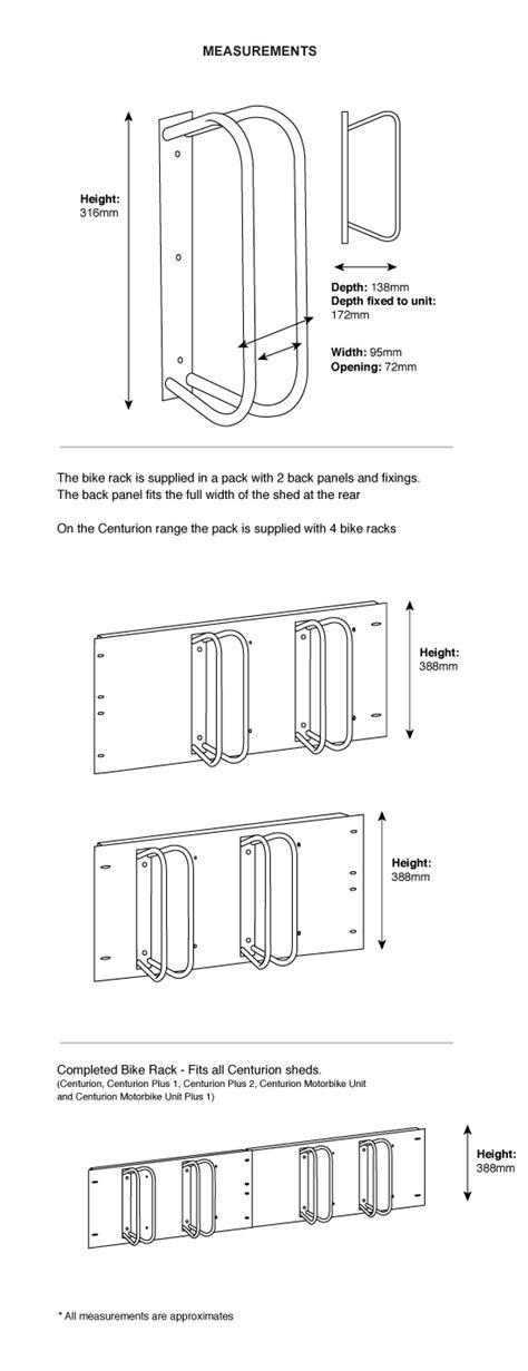 centurion bike rack bike storage  asgard