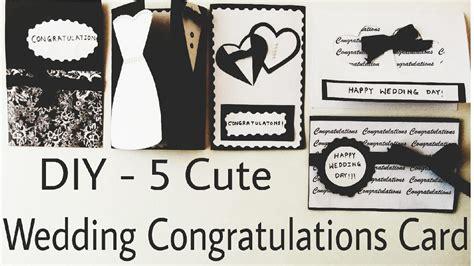 diy 5 cute wedding congratulation cards handmade cards