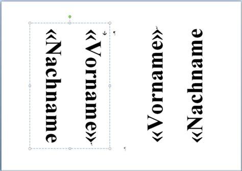 namensschilder erstellen mit word   format computer