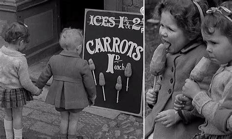 children carrot war stick carrots ice cream