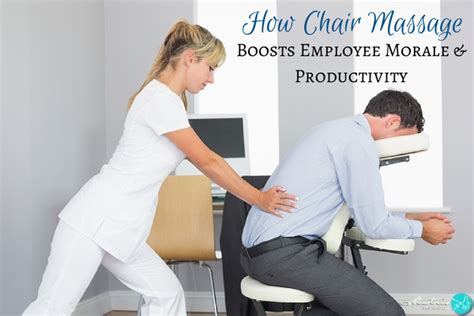 how on site chair can boost employee morale