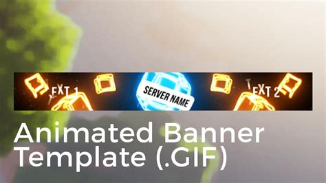 minecraft animated server banner template drop  blocks