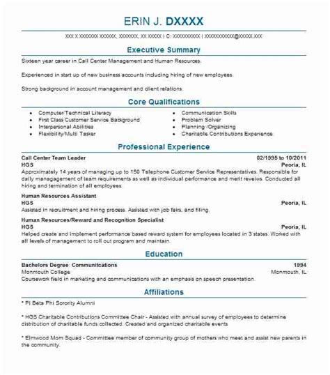Call Center Objectives by Call Center Team Lead Resume Bijeefopijburg Nl